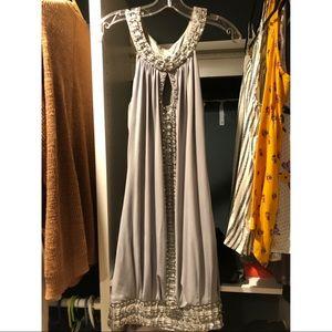 Sue Wong silk beaded dress